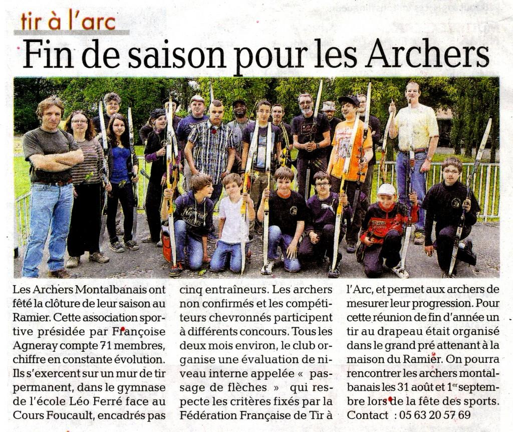Article de La Dépèche du 11.07.2013