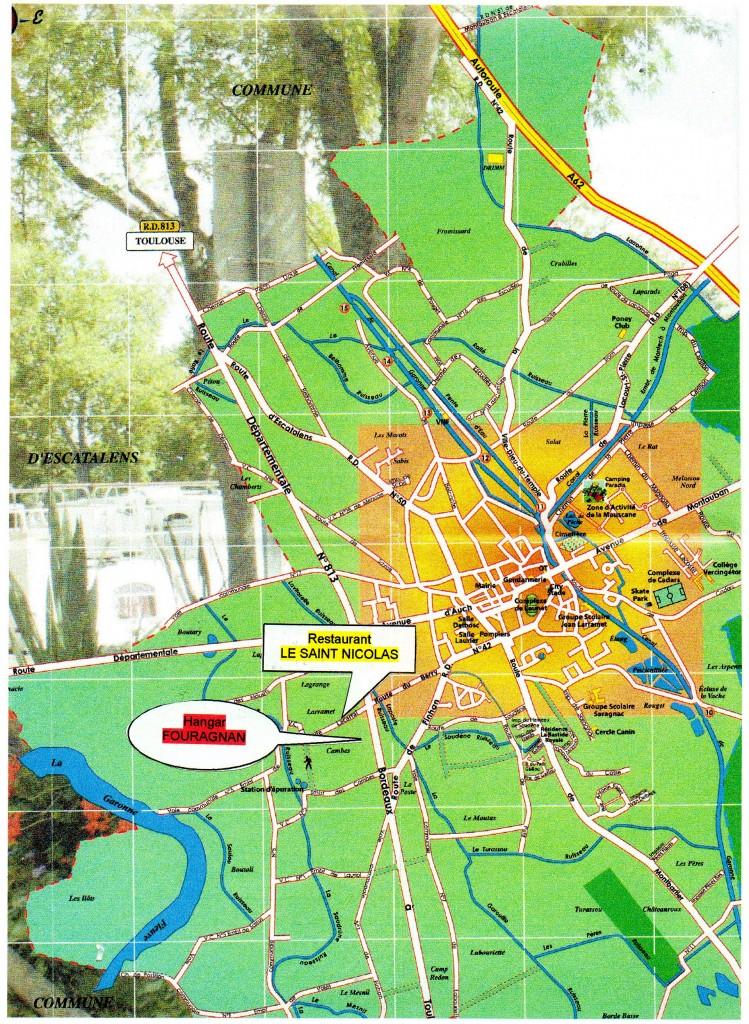 Plan accès Fouragnan