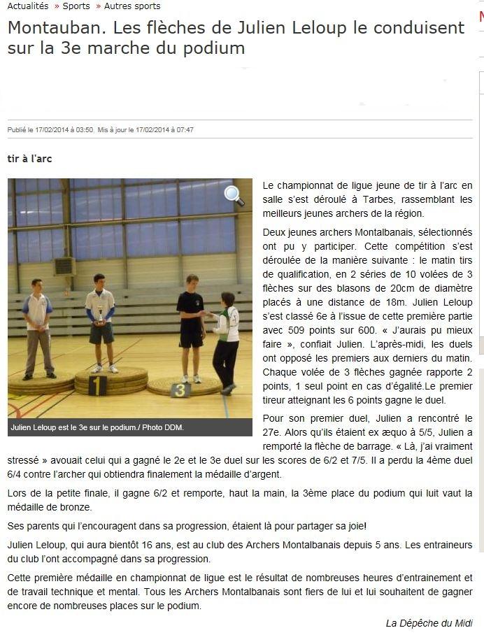 La Depeche 17.02.2014